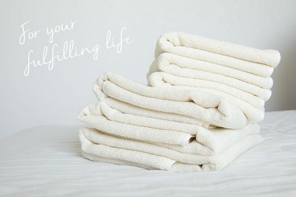 シルクのタオル