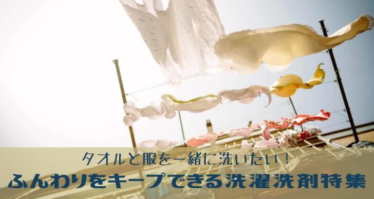タオルと洗える洗剤