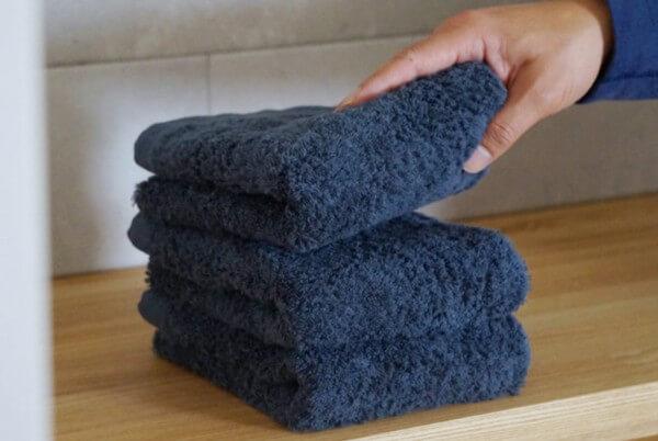 やさしい肌着の糸でつくったタオル